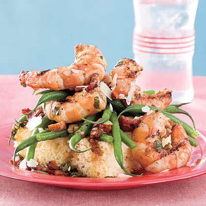 Grilled Shrimp-and-Green Bean Salad