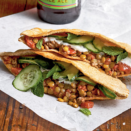 Sloppy Lentils in Pita Recipe