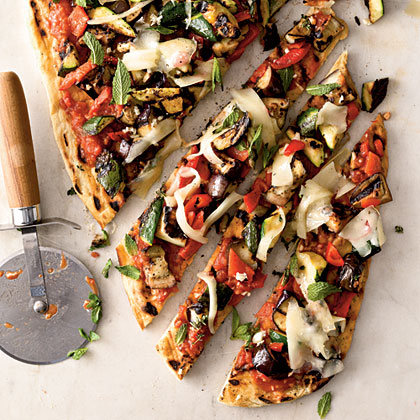 Veggie Grilled PizzaRecipe