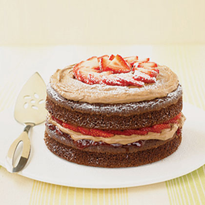 Double-Chocolate Strawberry Shortcake Recipe | MyRecipes.com