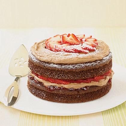 Double-Chocolate Strawberry Shortcake