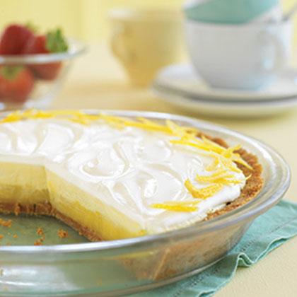Triple Layer Lemon Pie Recipe Myrecipes Com