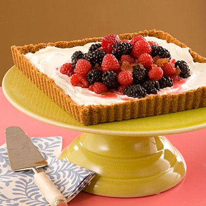 Lemon-and-Ginger Ice-Cream Tart