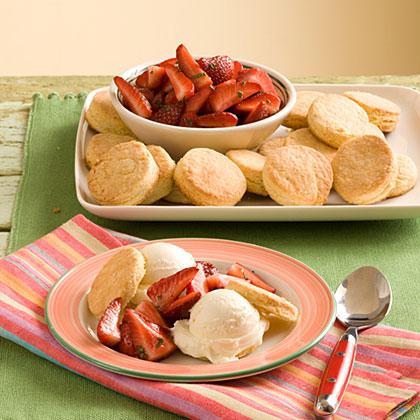 Lemon Ice-Cream-Strawberry Shortcake