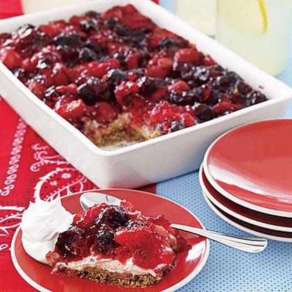 Mixed-Berry Pretzel Tart