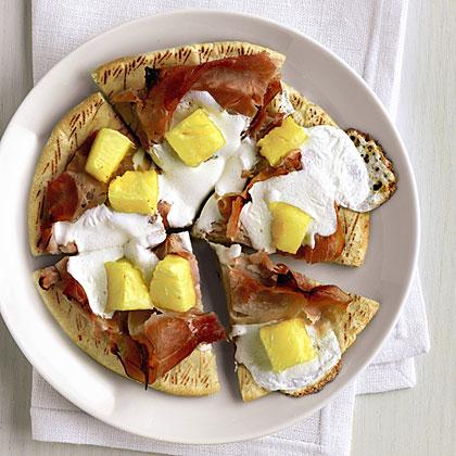 Ham and Pineapple Pita Pizzas