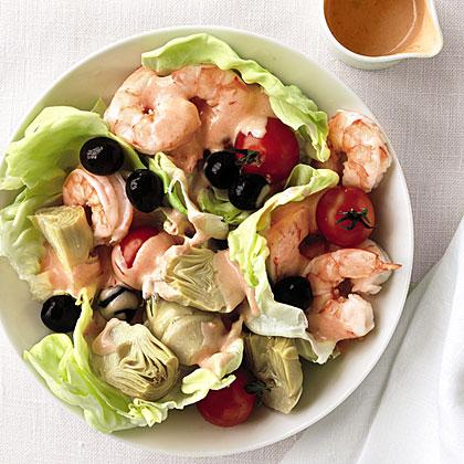 Shrimp, Artichoke, and Olive Salad