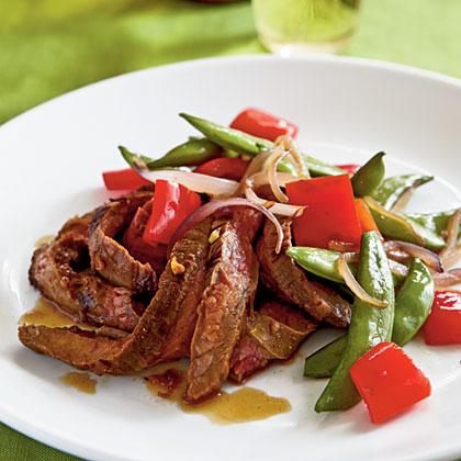 Spicy Asian Marinated Flank Steak