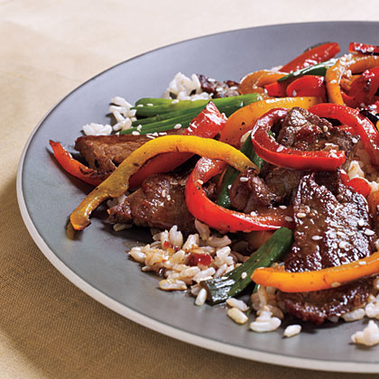 Spicy Beef and Bell Pepper Stir-Fry Recipe | MyRecipes