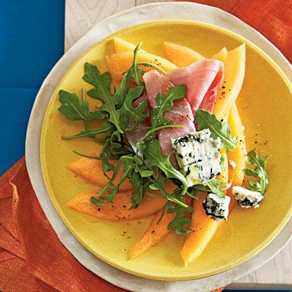 Cantaloupe, Prosciutto, and Cabrales SaladRecipe