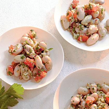 Cranberry Beans with Barley PestoRecipe
