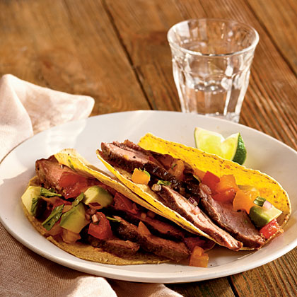 Grilled Flank Steak with Avocado and Two-Tomato Salsa Recipe