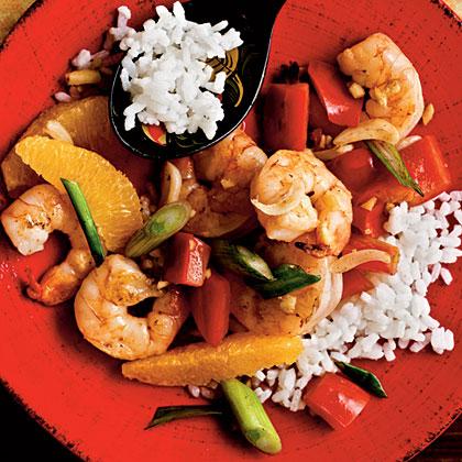 Garlic-Ginger Shrimp Stir-Fry