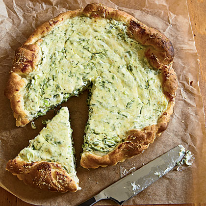 Herbed Ricotta Tart Recipe | MyRecipes