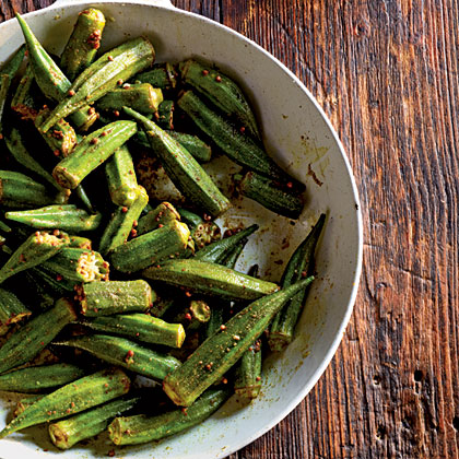 Indian-Spiced Okra Recipe | MyRecipes