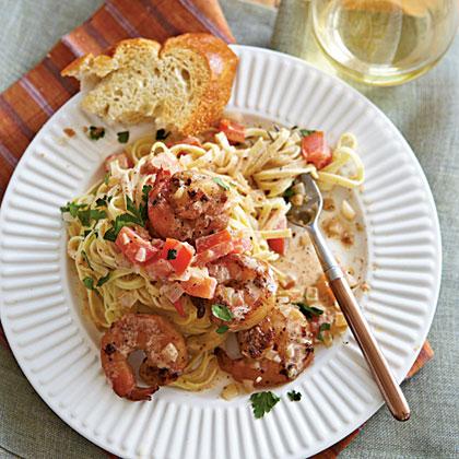 Linguine with Spicy Shrimp Recipe