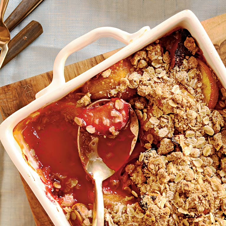 Peach, Plum, and Apricot Crisp