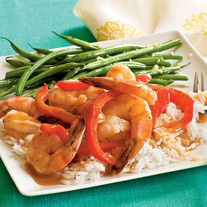 <p>Thai Red Curry Shrimp</p>