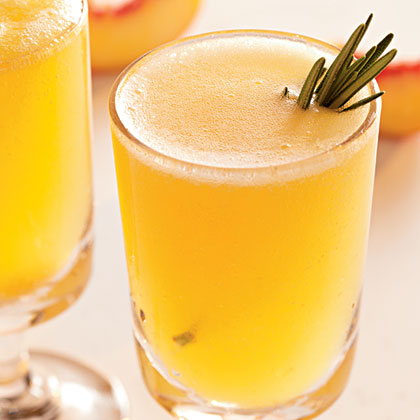 Sparkling Rosemary-Peach Cocktails Recipe | MyRecipes.com
