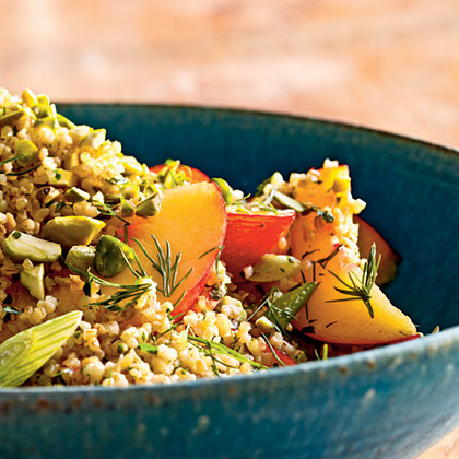 Cracked Wheat Salad with Nectarines, Parsley, and PistachiosRecipe