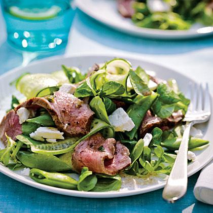 Grecian Steak SaladRecipe