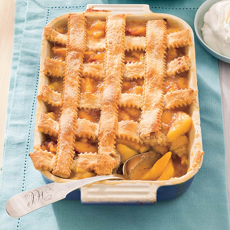 Pecan-Peach Cobbler