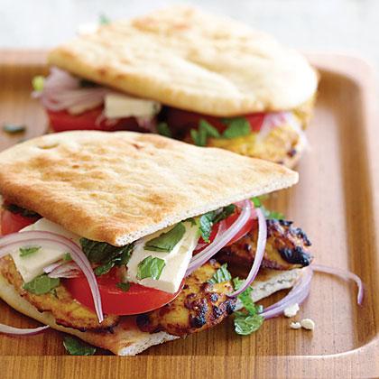 Tandoori Naan Chicken Sandwiches Recipe