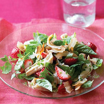 Thai Shredded Chicken and Strawberry Salad