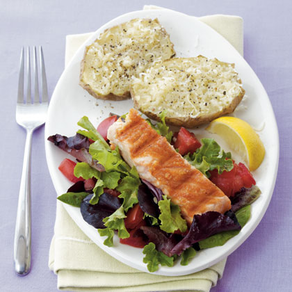 salmon-parmesan-potatoes Recipe