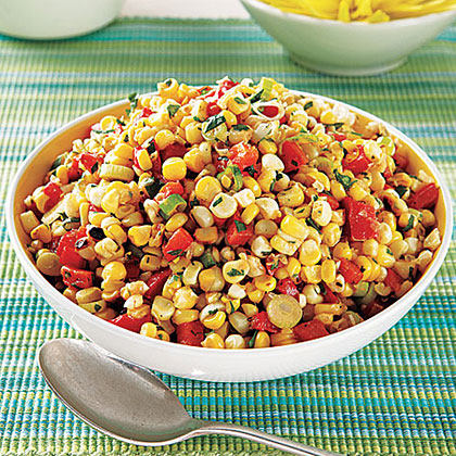 Roasted Corn and Red Pepper Salad Recipe