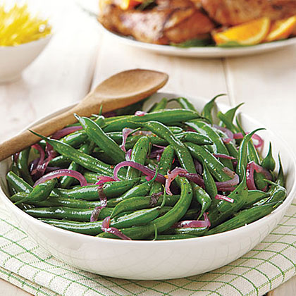 Green Bean Salad with Melted Red Onions