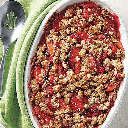 Peach and Plum Crisp Recipe | MyRecipes