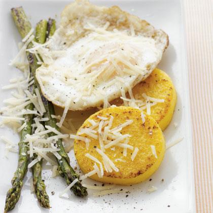 polenta-fritters-eggs Recipe
