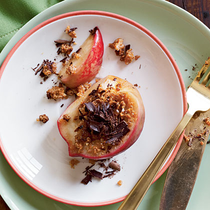 Chocolate-Amaretti Peaches