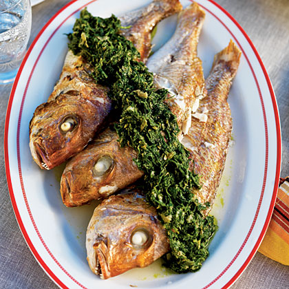 Whole Baby Snapper and Green SauceRecipe
