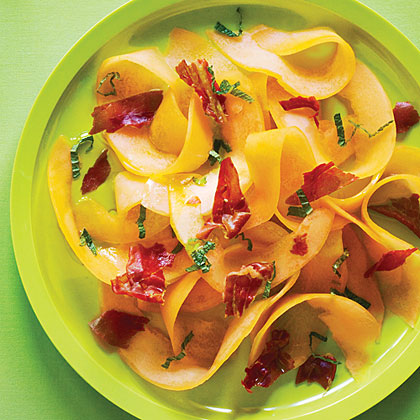 Shaved Cantaloupe and Prosciutto Salad