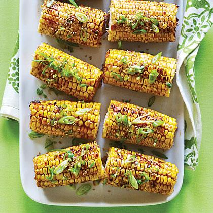 Spicy Hoisin and Sesame Glazed Corn