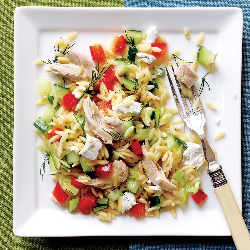 Lemony Orzo-Veggie Salad with Chicken Recipe MyRecipes