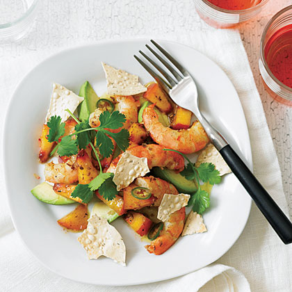 Curried Peach and Shrimp Salad Recipe