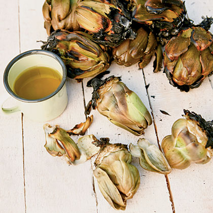 Charcoal-roasted Artichokes