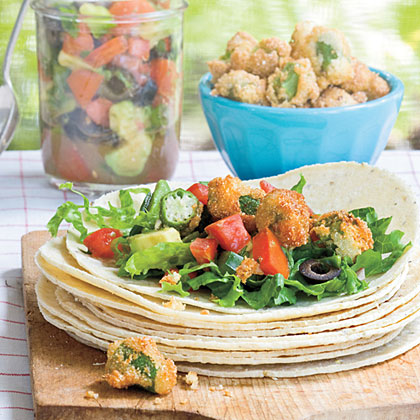 Fried Okra Tacos Recipe