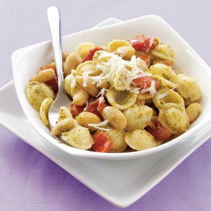 orecchiette-white-beans-pesto Recipe