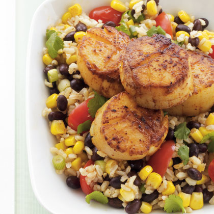 scallops-rice-salad