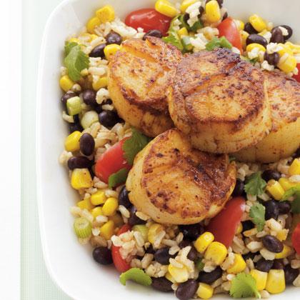 scallops-rice-salad