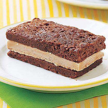 Mocha Brownie Ice Cream Sandwiches