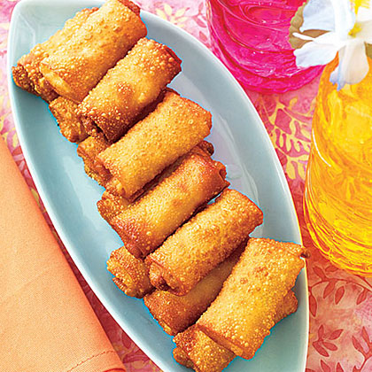 Must-Try Minis: Egg Rolls RecipeThese veggie-filled rolls are easy to pick up and enjoy as kids work their way from activity to activity at a birthday party. To keep the Snow White theme booming, encourage kids to come dressed as their favorite dwarf. Can you name all seven? We'll give you the answer on the next slide.