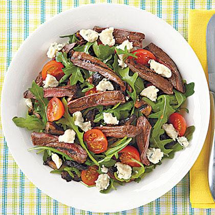 Grilled Steak and Portobello SaladRecipe