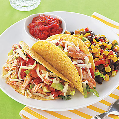 Slow-Cooker Turkey Tacos Recipe