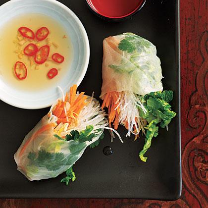 Asian style veggie rolls recipe myrecipes asian style veggie rolls forumfinder Gallery