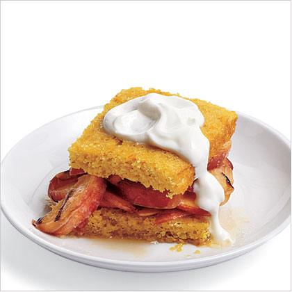Brandied Peach Shortcakes Recipe